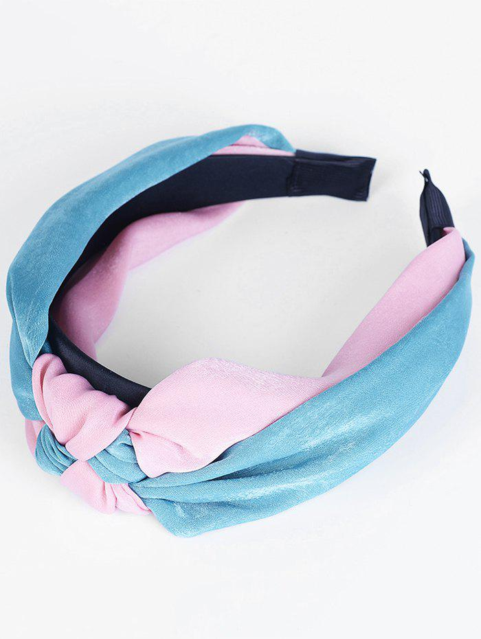 Vintage Two Tone Knot Hairband - BLUE/RED