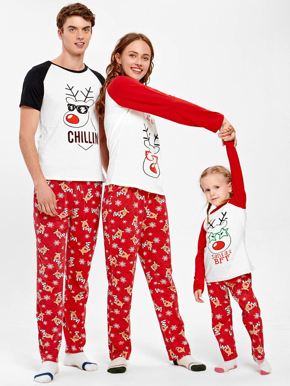 Rudolph Deer Matching Family Christmas Pajama - RED MOM M