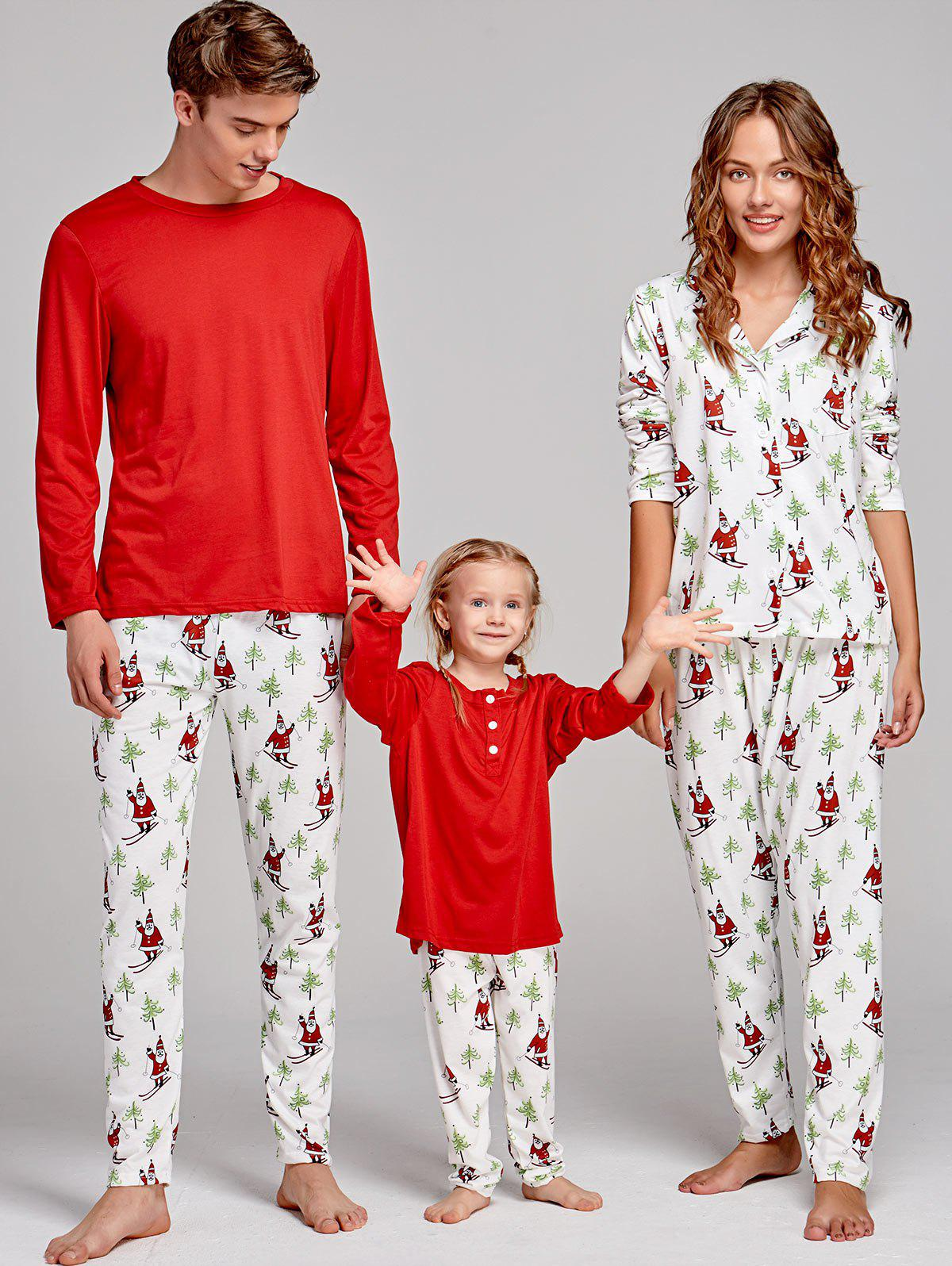 Santa Claus Printed Family Christmas Pajama Set - COLORMIX MOM S