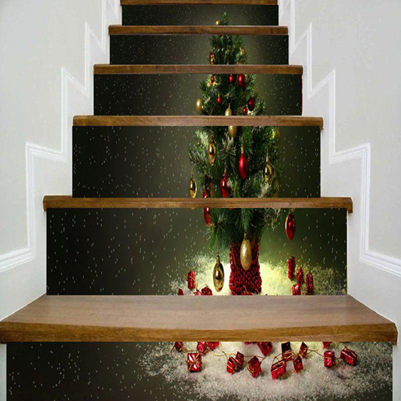 Christmas Tree Pattern DIY Home Decor Stair Stickers letter print christmas elements home decor stair stickers