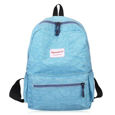Multi Function Letter Print Backpack With Handle - BLUE