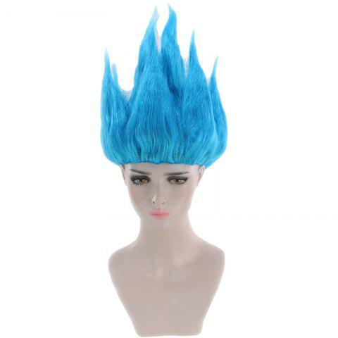 Anime Dragon Ball Goku Cosplay Short Straight Party Synthetic Wig - BLUE