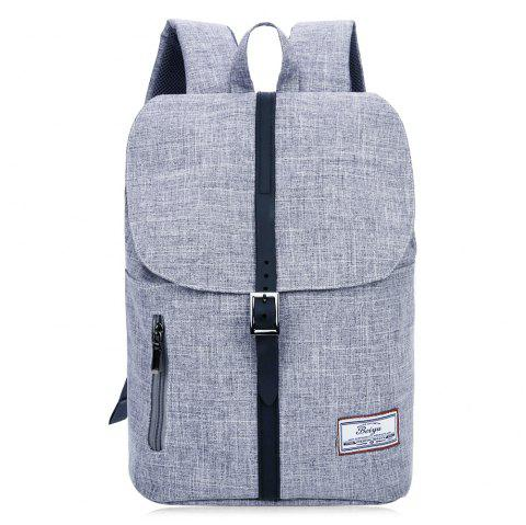 Multi Function Front Zip Buckle Strap Backpack - GRAY