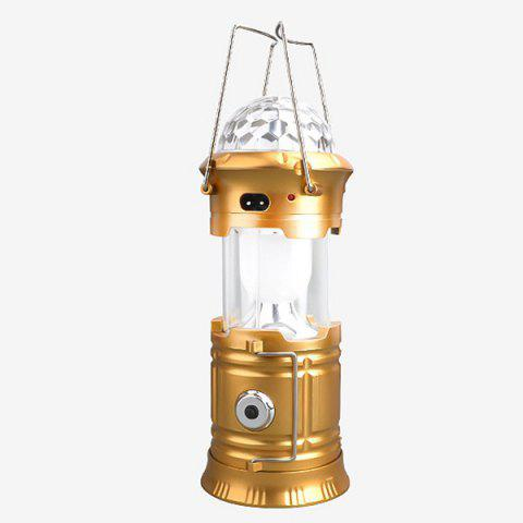 Multifunction Stage Light Flashlight Outdoor Camping Lantern - GOLDEN EU