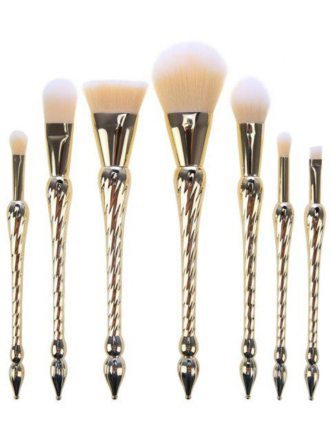7 pcs Ensemble de Pinceaux de Maquillage Pointus Poignée - Or