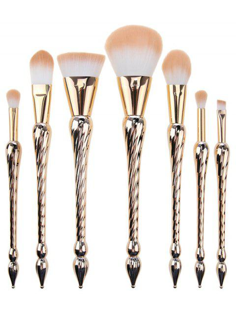 7 Pcs Pointed Scepters Handle Makeup Brush Set - ROSE GOLD