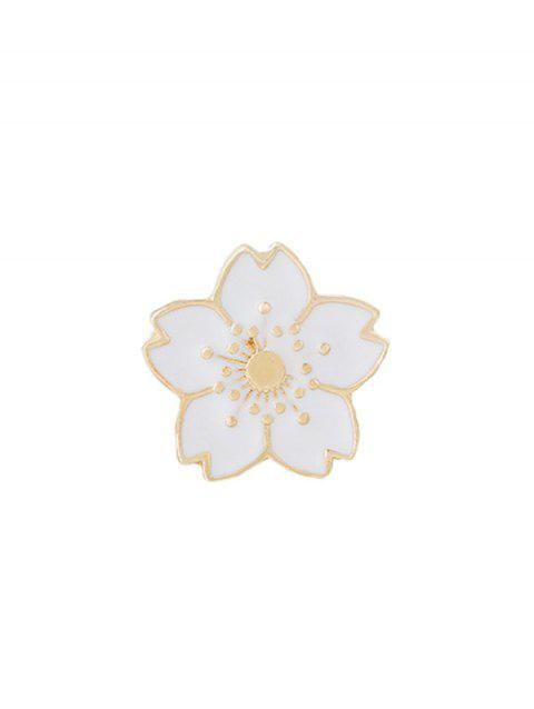 Cute Tiny Flower Brooch - WHITE