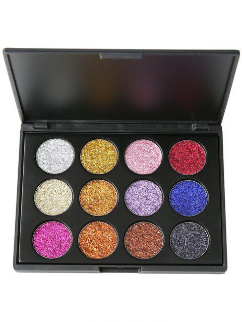 12 Colors High Pigmented Glitter Powder Natural Eyeshadow Palette - 01