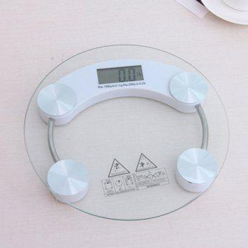 Transparent Glass Digital Weight Scale - WHITE WHITE