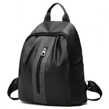 Nylon Multi Function Backpack With Handle -  BLACK
