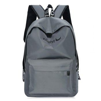 Color Block Letter Print Striped Backpack - GRAY GRAY