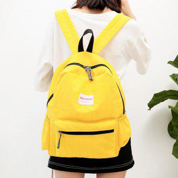 Multi Function Letter Print Backpack With Handle - YELLOW