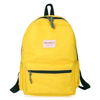 Multi Function Letter Print Backpack With Handle - YELLOW YELLOW