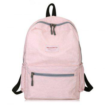 Multi Function Letter Print Backpack With Handle - PINK PINK