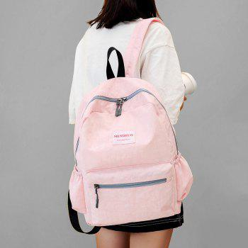 Multi Function Letter Print Backpack With Handle -  PINK