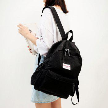 Multi Function Letter Print Backpack With Handle -  BLACK