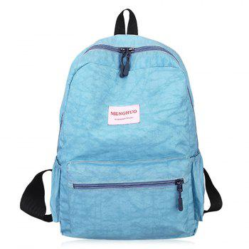 Multi Function Letter Print Backpack With Handle - BLUE BLUE