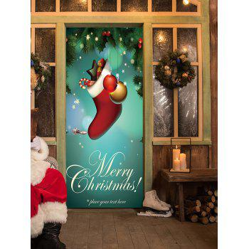 Christmas Sock Pattern Door Stickers - COLORMIX COLORMIX