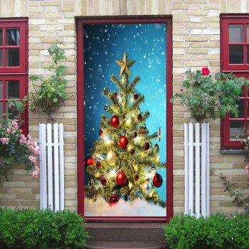 Christmas Tree Balls Pattern Door Stickers - COLORMIX COLORMIX