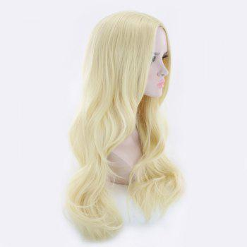 Long Middle Part Wavy Synthetic Cosplay Wig -  SUNFLOWER