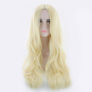 Long Middle Part Wavy Synthetic Cosplay Wig - SUNFLOWER SUNFLOWER