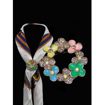 Multi Use Rhinestone Flower Brooch - COLORMIX COLORMIX