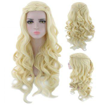 Long Braids Wavy Synthetic Cosplay Wig - SUNFLOWER SUNFLOWER