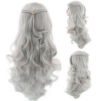Long Braids Wavy Synthetic Cosplay Wig - FROST FROST