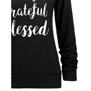 Thanksgiving Grateful Thankful Sweatshirt - BLACK BLACK