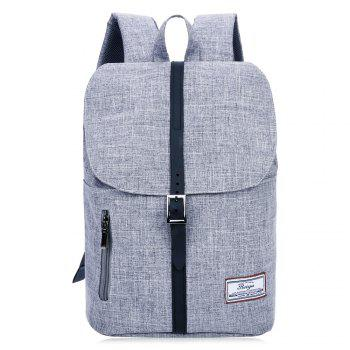 Multi Function Front Zip Buckle Strap Backpack - GRAY GRAY