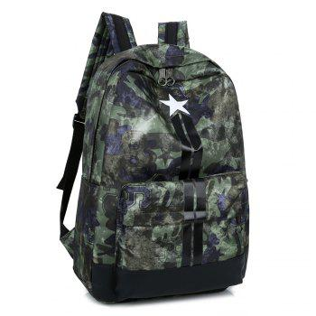 Stars Striped Print Backpack -  GREEN