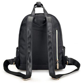 Nylon Double Handles Backpack - BLACK