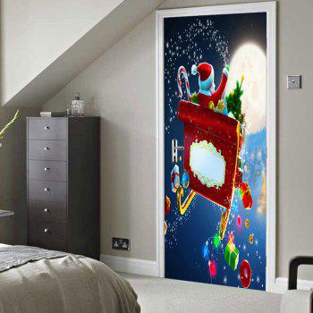 Christmas Santa with Gifts Pattern Door Stickers - COLORMIX COLORMIX