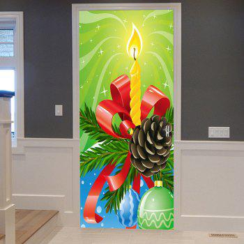 Christmas Candle Ball Pattern Door Stickers - COLORMIX COLORMIX