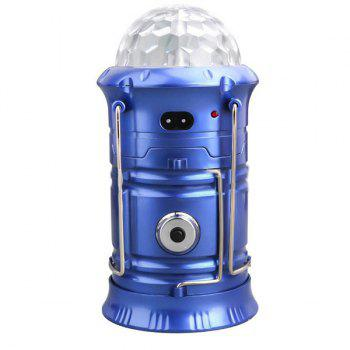 Multifunction Stage Light Flashlight Outdoor Camping Lantern - BLUE BLUE