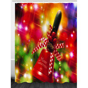 Christmas Handbell Pattern Waterproof Shower Curtain - COLORFUL W71 INCH * L71 INCH