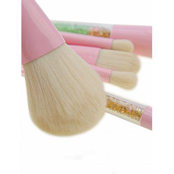 8 Pieces Glitter Powder Handle Makeup Brush Set - COLORFUL