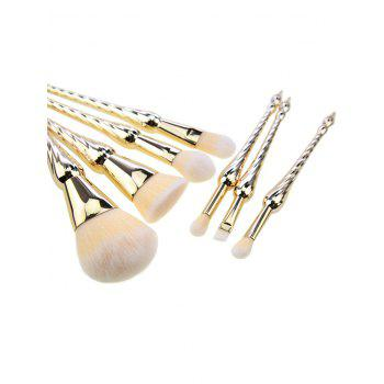 7 Pcs Pointed Scepters Handle Makeup Brush Set -  GOLDEN
