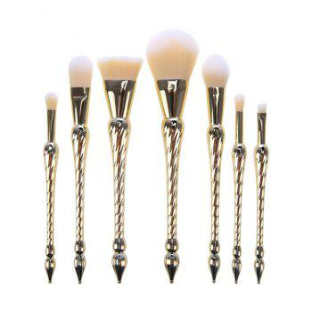 7 Pcs Pointed Scepters Handle Makeup Brush Set - GOLDEN GOLDEN