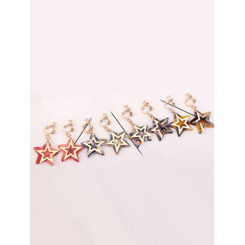 Alloy Resin Star Drop Earrings - BLUE