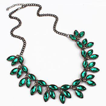 Faux Jewelry Leaves Necklace - GREEN GREEN