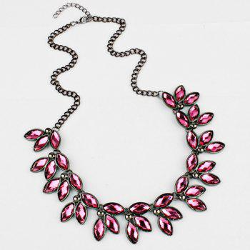 Faux Jewelry Leaves Necklace - PINK PINK