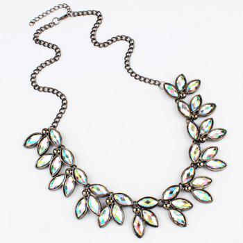 Faux Jewelry Leaves Necklace - COLORFUL COLORFUL