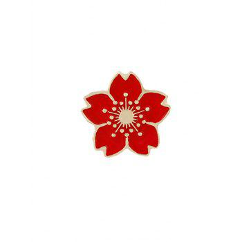Cute Tiny Flower Brooch - RED RED