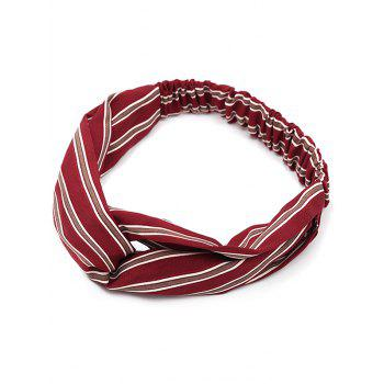 Vintage Striped Elastic Hair Band - RED WITH WHITE RED/WHITE