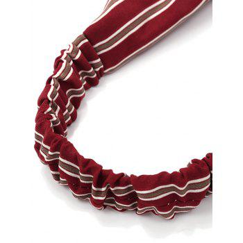 Vintage Striped Elastic Hair Band - RED/WHITE
