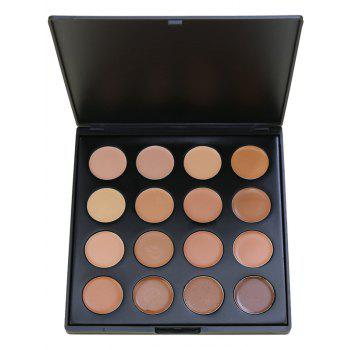 16 Colors Base Foundation Highlighter Cream Concealer Palette - #01