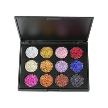 12 Colors High Pigmented Glitter Powder Natural Eyeshadow Palette