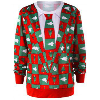 Pinetree Christmas Crew Neck Sweatshirt - COLORMIX COLORMIX