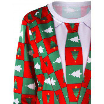 Pinetree Christmas Crew Neck Sweatshirt - COLORMIX L